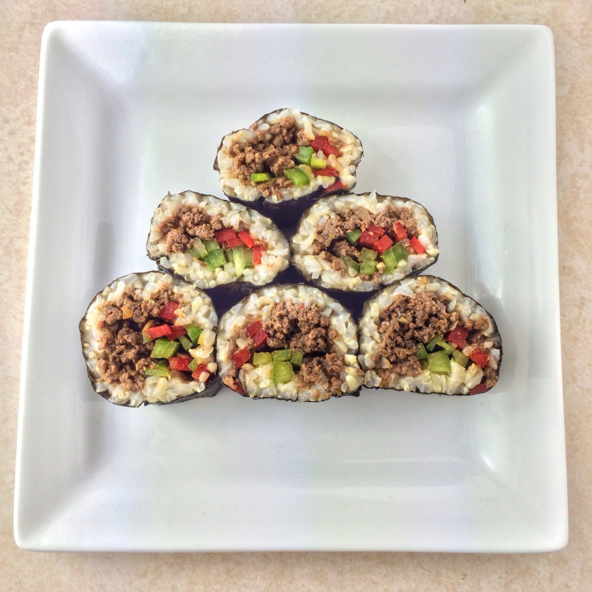 Ground Venison Sushi Roll